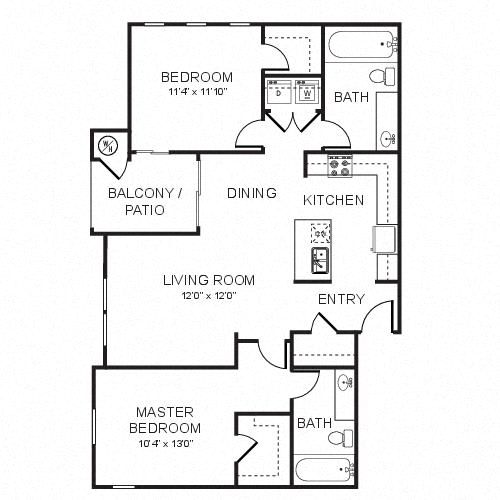 A3 Floor plan, at Rosina Vista, Chula Vista, California