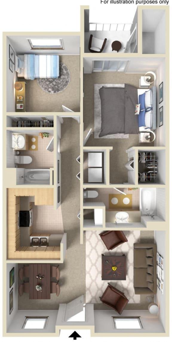 Floor Plan  Newport Floor Plan, at Greenfield Village, San Diego, CA