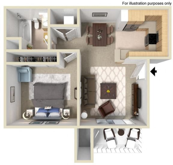 Floor Plan  Saint Auban Floorplan One Bedroom One Bath