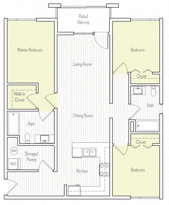 C-2 Floor plan, at Parc One, 320 Town Center Pkwy, CA