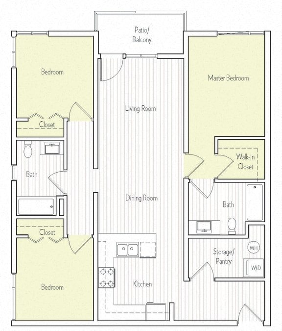 C-3 Floor plan, at Parc One, Santee, 92071
