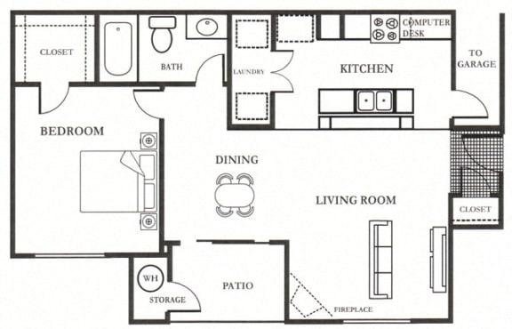 B- Francisco 809 SF Floor Plan, at Casoleil, CA, 92154