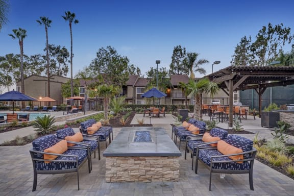 Fire Pits and Entertainment Area, at Park Pointe, El Cajon, California