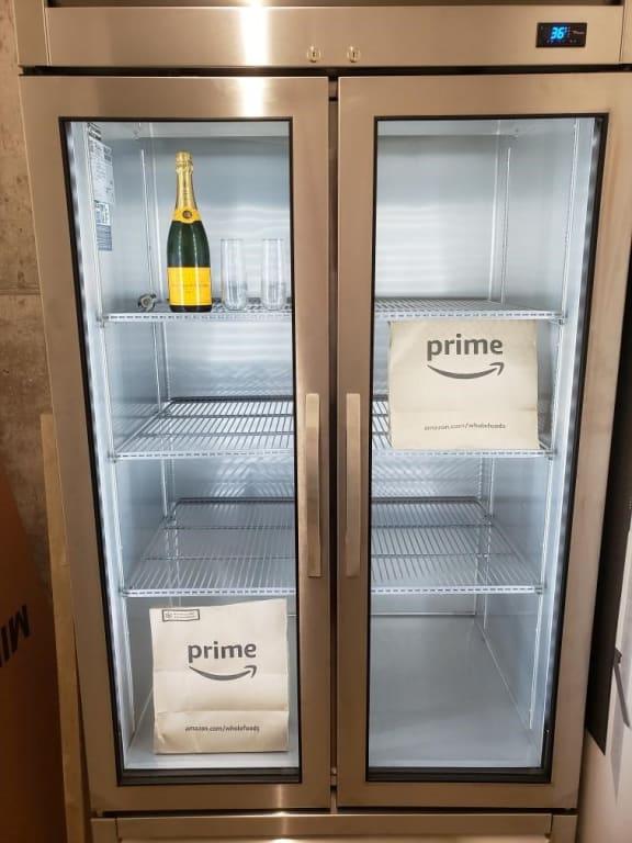 refrigerator for perishable deliveries