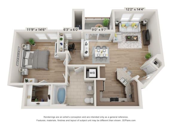 Main Street Village Klamath Floor Plan