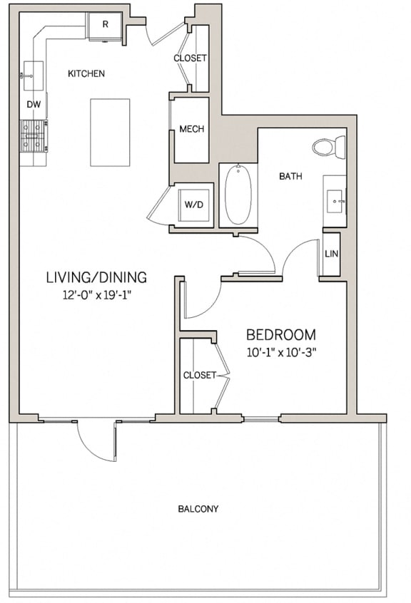 1 Bed 1 Bath A2 at AVE King of Prussia, King of Prussia, PA
