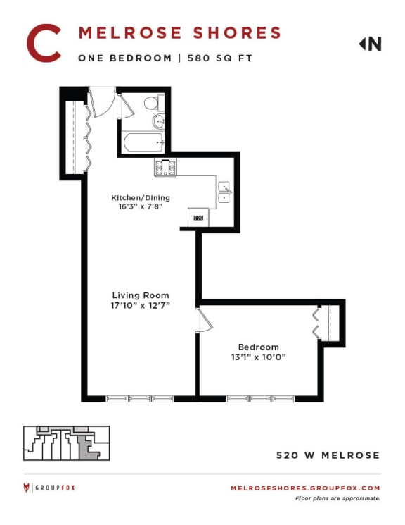 Melrose Shores - One Bedroom