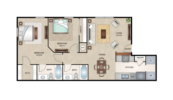 Floor Plan  Willow Floor Plan Layout