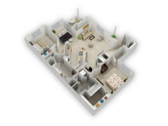 2 bedroom 2 bath Floor Plan at Farmington Lakes Apartments, Oswego, 60543