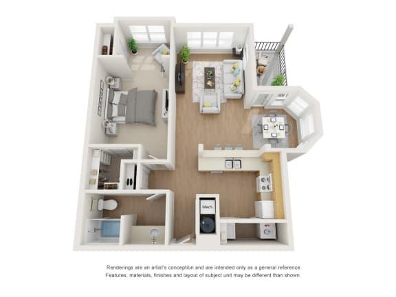 Floor Plan  Ivyleaf Floor Plan at Maple Knoll Apartments, Indiana, 46074