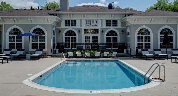 Pool at The MilTon Luxury Apartments, Vernon Hills, Illinois