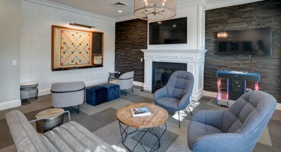 Clubhouse Redesign with Game Room at The MilTon Luxury Apartments, Vernon Hills