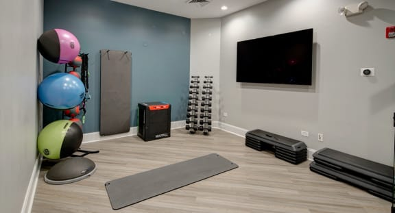 Clubhouse Redesign with Private Yoga Room at The MilTon Luxury Apartments, Vernon Hills