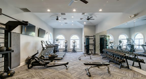 Clubhouse Redesign with Updated Gym at The MilTon Luxury Apartments, Vernon Hills