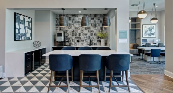 Luxurious Clubhouse at The MilTon Luxury Apartments, Vernon Hills, Illinois