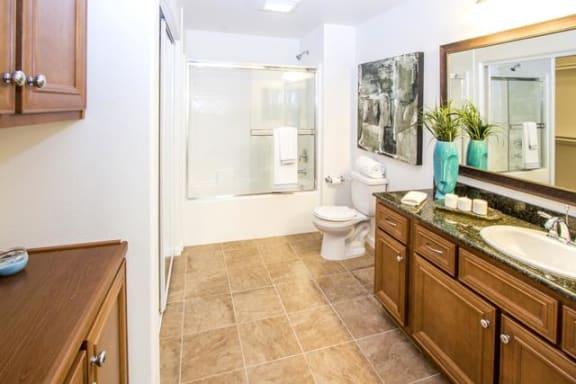 Spacious Bathrooms at Le Blanc Apartment Homes, Canoga Park, 91304