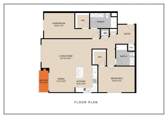 Floor Plan  unit b floor plan