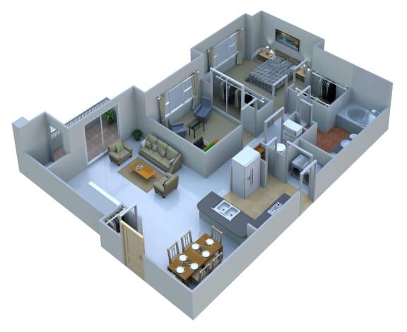 Floor Plan  2 Bedrooms 1 Bath