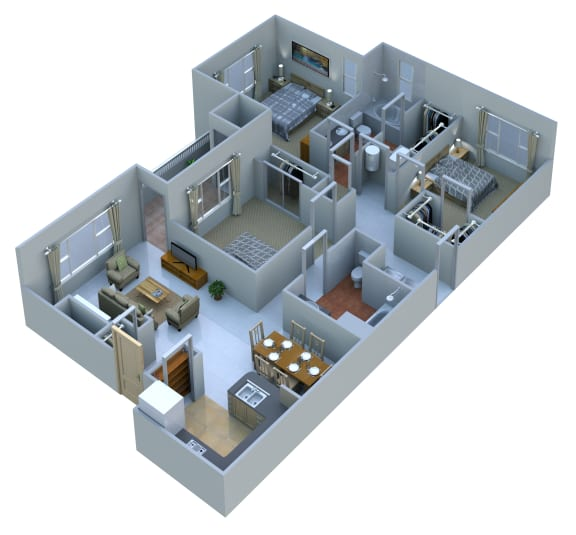 Floor Plan  3 Bedrooms 2 Baths