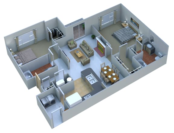 Floor Plan  2 Bedrooms 2 Baths