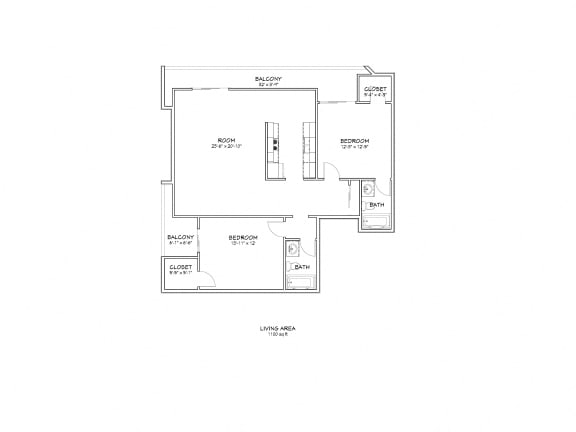 Floor Plan  5119 Maplewood - unit #120 floor plan