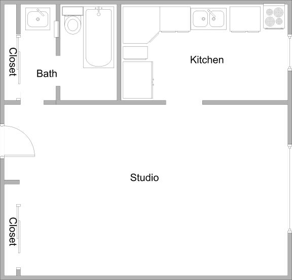 Floor Plan  Villa Del Sol Studio Floor Plan