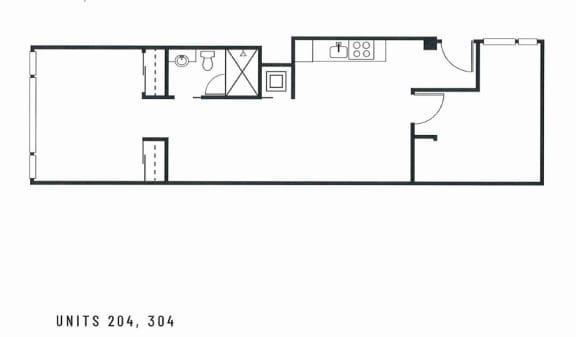 Broadway Lofts 2 Bedroom Floor Plan