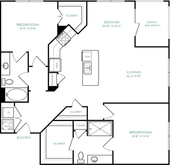two bedroom apartments in haltom city