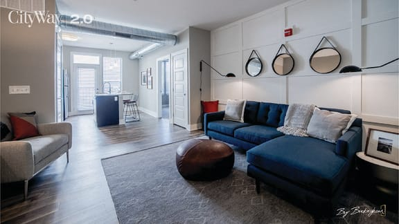 Modern Living Room at CityWay, Indianapolis, 46204