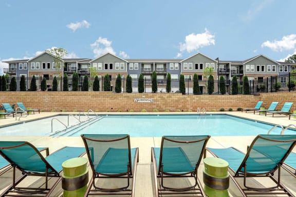 Swimming Pool With Lounge Chairs at Whetstone Flats, Nashville, TN, 37211