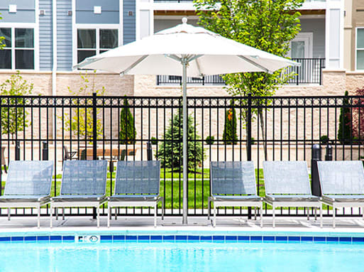 Picturesque Pool And Cabana Setting at The Approach at Summit Park, Blue Ash, OH, 45242