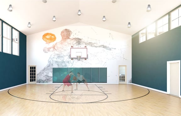 Full Size Basketball Court at Whetstone Flats, Nashville, TN