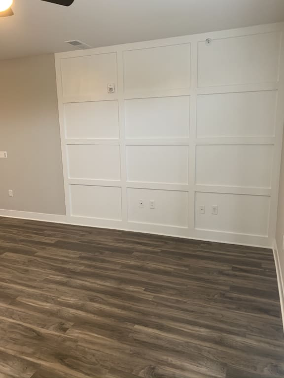 Blueford Living Room Space with Accent Wall