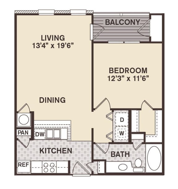 Canal Street Floor Plan at Providence at Old Meridian, Indiana, 46032