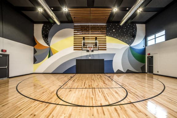 Full Size Basketball Court at The Century at Purdue Research Park, Indiana
