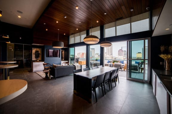 Clubroom With Smart Tv And Ample Of Sitting Area at CityWay, Indianapolis, IN