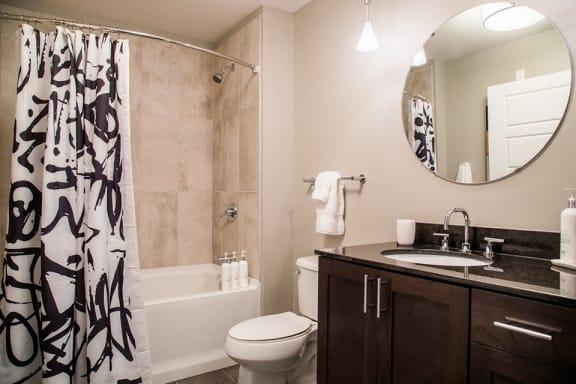 Large Soaking Tub In Bathroom at CityWay, Indianapolis