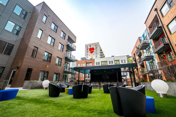 Courtyard Patio With Ample Sitting at CityWay, Indianapolis, IN, 46204