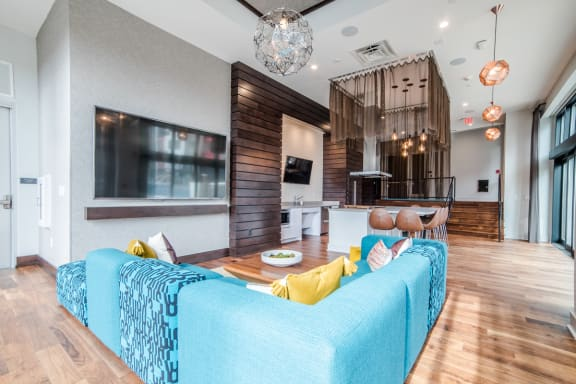 Posh Lounge Area In Clubhouse at CityWay, Indianapolis, Indiana