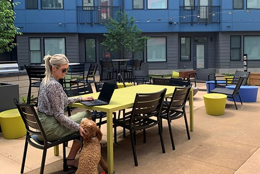 Courtyard Patio With Ample Sitting at CityWay, Indianapolis