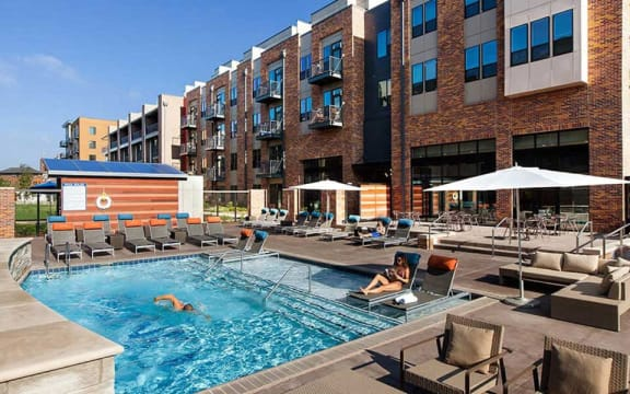 Pool With Sundeck at CityWay, Indiana, 46204