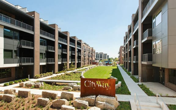 Welcoming Property Signage at CityWay, Indianapolis, IN