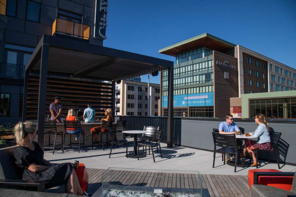 Access to Rooftop Lounge and Outdoor Deck at CityWay, Indiana, 46204