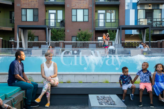Poolside Relaxing Area at CityWay, Indianapolis, IN, 46204