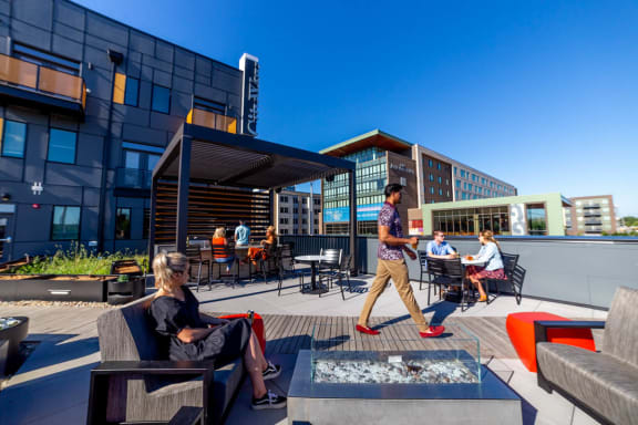 Rooftop Lounge at CityWay, Indiana