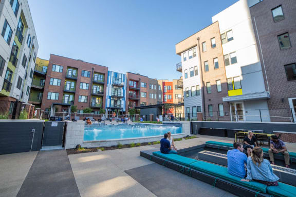 Poolside Lounge Area at CityWay, Indiana, 46204