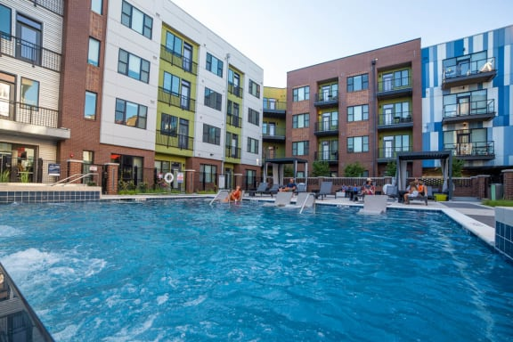 Glimmering Pool at CityWay, Indiana