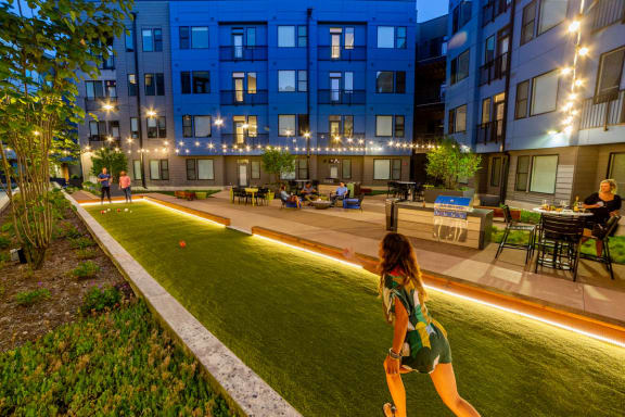 Green Spaces With Mature Tree at CityWay, Indianapolis, IN, 46204