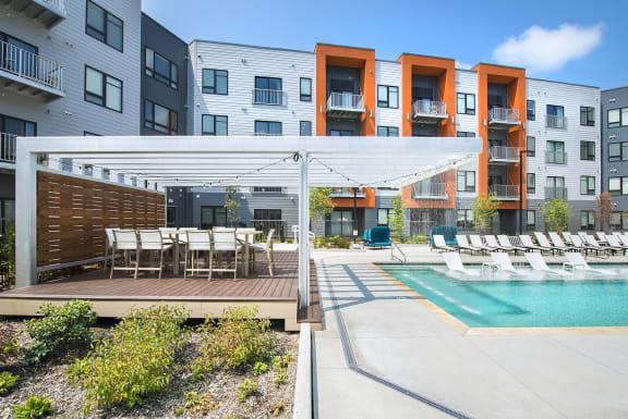 Picturesque Pool And Cabana Setting at Union Berkley, Kansas City, MO, 64120