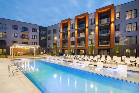 Swimming Pool With Relaxing Sundecks at Union Berkley, Missouri, 64120